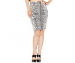 Bar III  - Snake-Print Pencil Skirt