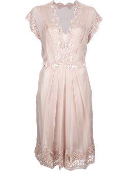 ALBERTA FERRETTI  - v-neck silk dress