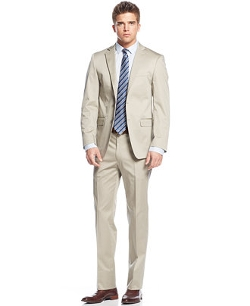 Calvin Klein  - Solid Tan Extra Slim-Fit Suit
