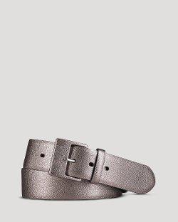 Ralph Lauren  - Metallic Textured Leather Belt