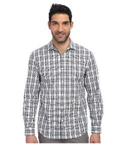 Perry Ellis  - Long Sleeve Mini Plaid Shirt