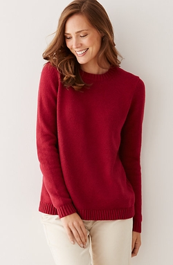 J.jill - Buttoned-Back Pullover Sweater