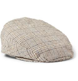 LOCK & CO HATTERS   - PLAID COTTON FLAT CAP