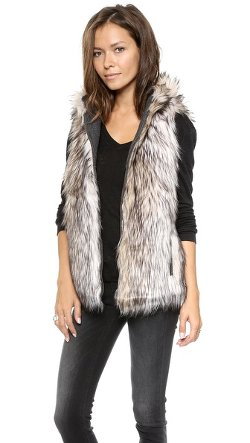 6 Shore Road  - Hopi Reversible Faux Fur Vest