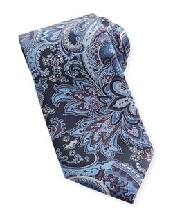 Brioni  - Large-Paisley Silk Tie