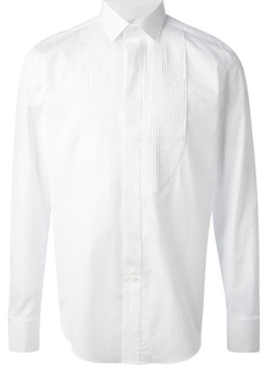 Lanvin - Pleated Bib Dress Shirt