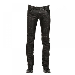 Krralinlin - Motorcycle PU Leather Pants