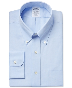 Brooks Brothers - Slim-Fit Non-Iron Pinpoint Solid Dress Shirt