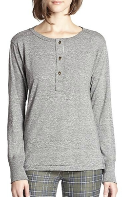 Current/Elliott - The Slim Henley Tee