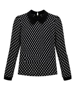 Chicnova - Collar Puff Sleeves Knitwear