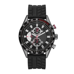 JCPenny - Mens Rubber Strap Faux Subdial Watch