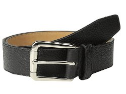 Cole Haan  - Feather Edge Stitch Pebble Leather Strap Belt