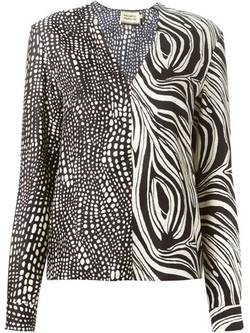 Fausto Puglisi - Printed V-Neck Blouse