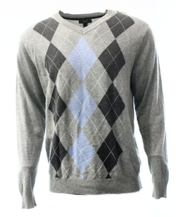 Club Room  - Large V-Neck Argyle Knit Sweater