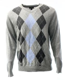 Club Room  - Large V-Neck Argyle Knit Sweater