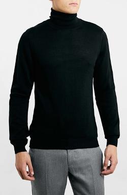 Topman  - Merino Wool Blend Turtleneck Sweater