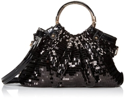 MG Collection - Sequin Patent Evening Bag
