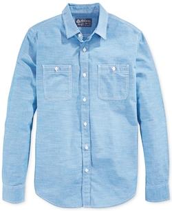 American Rag - Solid Utility Chambray Shirt