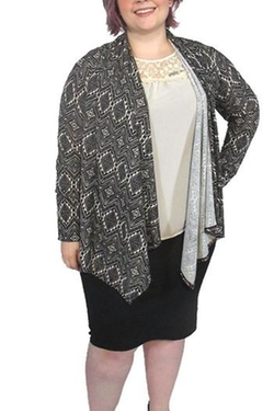 Moa Collection - Geometric Print Cardigan