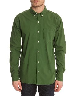 Closed - Henry Button Down Green Shirt