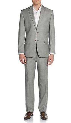 Lauren Ralph Lauren  - Regular Fit Sharkskin Wool Suit