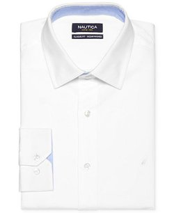 Nautica - White Solid Dress Shirt