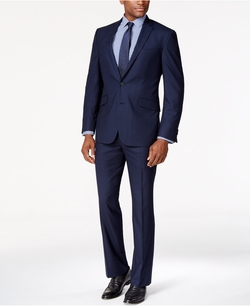 Kenneth Cole Reaction - Light Navy Sharkskin Slim-Fit Suit
