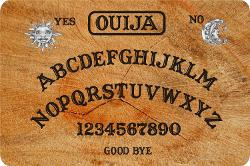 Rikki Knight LLC - Ouija Board Large Tempered Glass Cutting Board