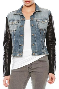 Jet John Eshaya - Leather Jean Jacket