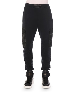 Alexander McQueen - Python-Print Cotton Cargo Sweatpants