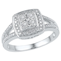 Target -  Round Diamond Miracle Set Square Fashion Ring
