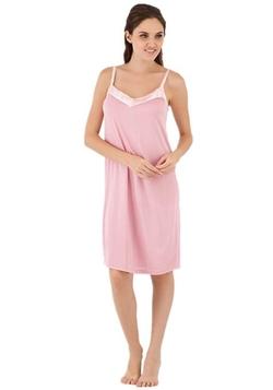 Narasilk - Trim Delicate V-Neck Nightgown