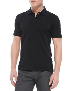 Versace Collection - Cotton-Jersey Polo, Black