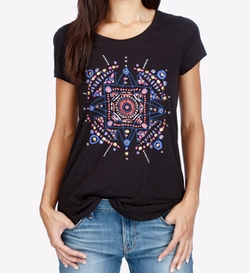 Lucky Brand  - Embellished Graphic T-Shirt