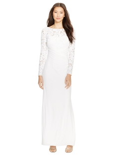 Ralph Lauren - Sequined-Bodice Jersey Gown