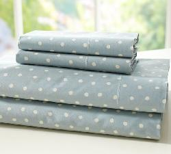 Pottery Barn	   - Polka Dot Organic Sheet Set