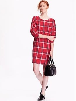 Old Navy - Plaid Cocoon Dress