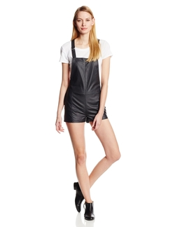 Townsen - Rookie Vegan Leather Overall Romper
