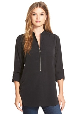 Halogen - Zip Front Blouse