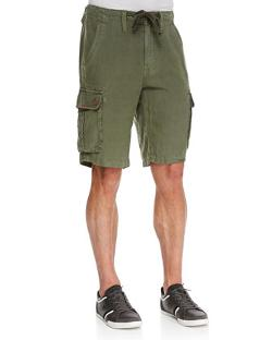True Religion  - Recon Linen Cargo Shorts