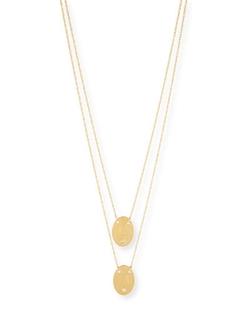 Jennifer Zeuner - Double Oval Disc Personalized Necklace