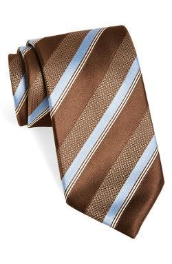 Canali  - Stripe Woven Silk Tie