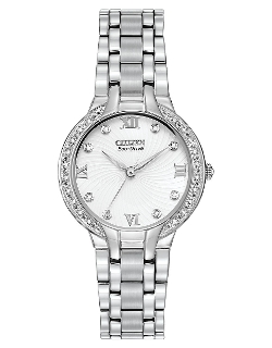 CitizenEco-Drive - Stainless Steel Diamond Accents & Dial Watch