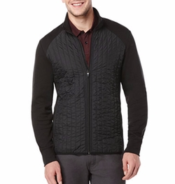Perry Ellis - Quilted Mixed-Media Jacket