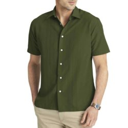 Van Heusen - Short-Sleeve Textured-Stripe Shirt