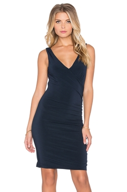 Velvet By Graham & Spencer - Sully Stretch Jersey V Neck Mini Dress