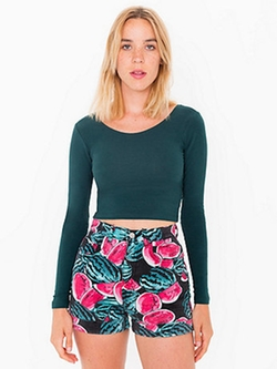 American Apparel - Cotton Spandex Crop Top