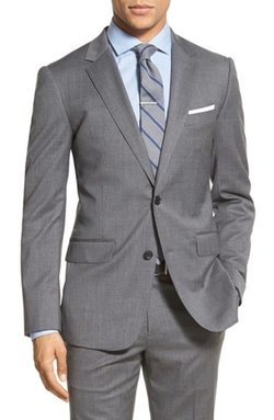 Bonobos  - Trim Fit Solid Stretch Wool Sport Coat