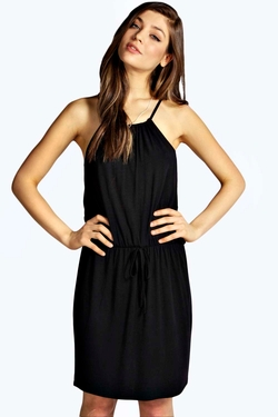 Boohoo  - Hannah Halter Neck Skater Dress