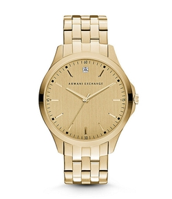 Armani Exchange - Gold Dial With Diamond Watch